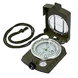 Proster Militär Marschkompass Professioneller wasserdichter Taschenkompass Peilkompass Kompass Compass mit Schutztasche Lanyard für Wandern Camping Klettern Rad fahren