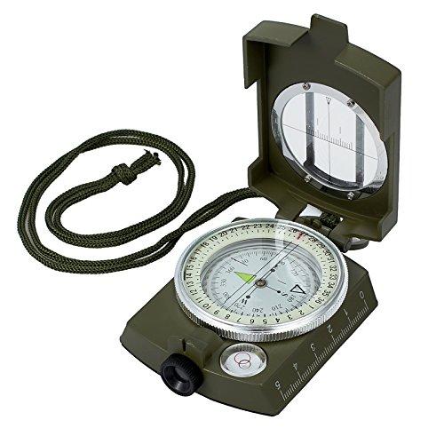 Proster - Brújula de navegación de Metal para Senderismo, Camping, Escalada, exploración, geología, Actividades al Aire Libre, Color Verde