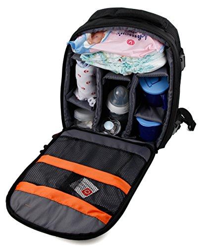 DURAGADGET Mochila para Guardar Accesorios De Bebé - Incluye Funda Impermeable - con Compartimentos Internos