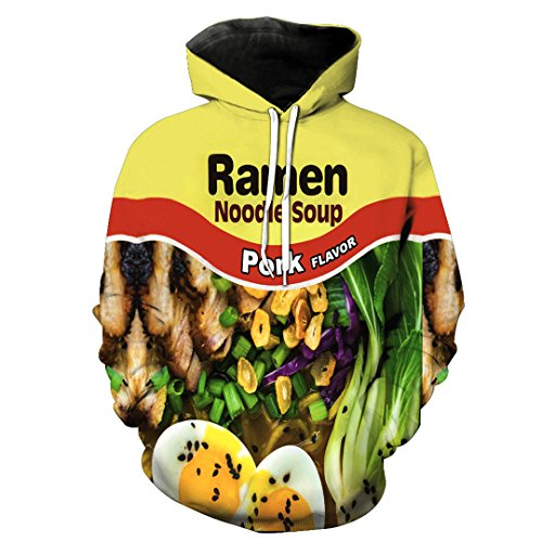 oodies Print Nudel Farbe Food Slim Stylish Hoodies 0129 XXXL ()