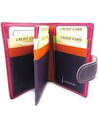 Francinel [L8708] - Porte-cartes 'Bergamo' rose multicolore