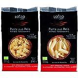 Lotao Zen Bio-Pasta aus Reis, vegan, Penne, Fusilli, 4er Pack (4x250g)