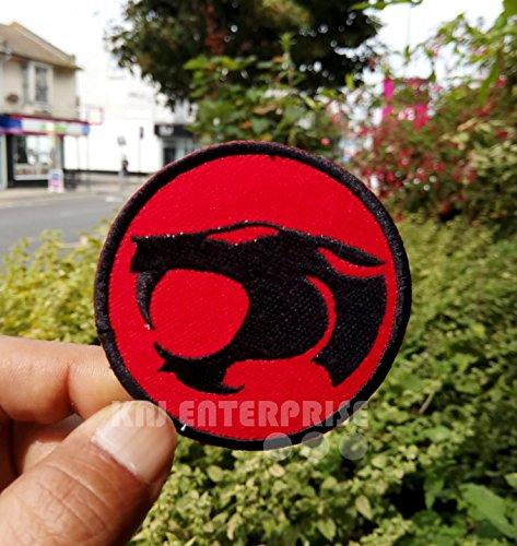 Zeichentrickserie Thundercats Old Logo Hohe Qualität | Eisen auf Patch | Sew auf bestickt Patch | Eisen Buttons für Kleidung | Größe: 6,5cm