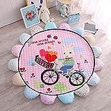 Aishankra Kind Schlafzimmer Slip Teppich Baby Baumwolle Krabbeln Decke Cartoon Dekorativ Spiel Matte, A