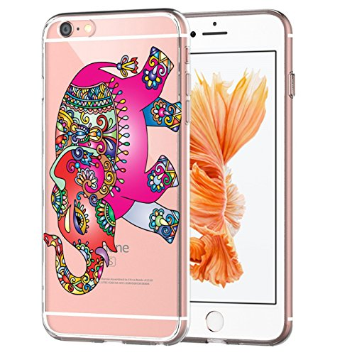blitz versand germany Blitz® CRAZY Schutz Hülle Transparent TPU Cartoon Indien Elephant M12 iPhone - Indien Handys Versand