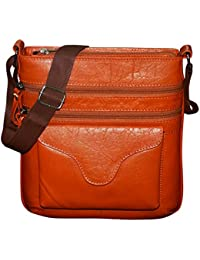 Style98 100% Pure Leather Handmade Stitched Unisex Sling Bag For Men,Women,Boys & Girls - B06XXQW9HS