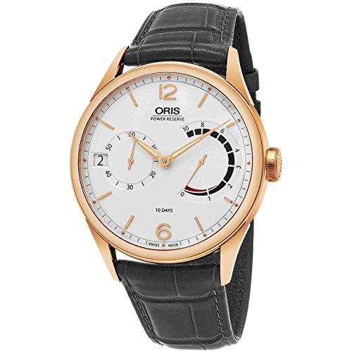 Oris Men's Artelier 43mm Black Leather Band Automatic Watch 11177006061LS78