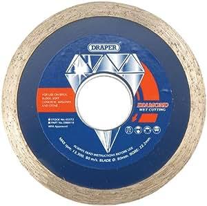 Draper 45372 Disque diamant continu Sciage humide 80 x 22,2 mm (Import Grande Bretagne)
