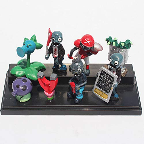 Generic PflanzenVsZombies Pflanzen VS Zombies - Set 8 Figuren 3-8cm / PVZ 8 Figuren Set 1