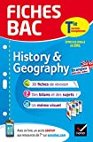 Fiches bac History & Geography Tle section européenne : fiches de révision Terminale section européenne (French Edition)