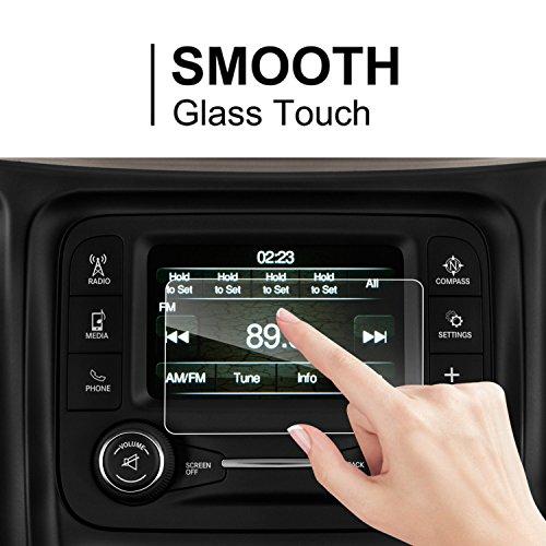 LFOTPP Jeep Cherokee Uconnect 5 Zoll Navigation Schutzfolie - 9H Kratzfest Anti-Fingerprint Panzerglas Displayschutzfolie GPS Navi Folie -