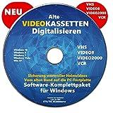 Retten Sie Ihre Videokassetten VHS to DVD Video-Kassetten selber digitalisieren Software Komplettpaket PREMIUM NEU Bild