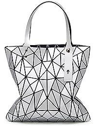 311dd4556b823 XZWNB Matte Handtasche Schultertasche Umhängetasche Rhombus Geometrie  Handtasche