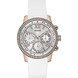 Guess Reloj con movimiento mecánico japonés Woman Sunrise Rose Gold Tone Oro Rosa 42 mm de Guess