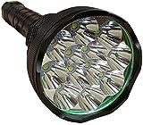 Dayiss® LED Taschenlampe Flashlight superhell 13800 Lumen Lichtleistung 80W 12XCREE