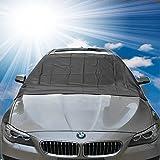 FEZZ Auto Frontscheibe Windschutzscheibe Eisschutz Schneeabdeckung mit Seitenspiegelabdeckung gegen Schnee Eis Frost Sonnen Magnetisch Größe 210*120cm für Auto SUV Truck