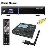 GigaBlue UHD UE 4K ULTRA HD 2xDVB-S2 FBC E2 Linux Receiver + GigaBlue USB Wlan Stick Adapter 600 MBit + MG-Technik HDMI-Kabel V2.0 Gold