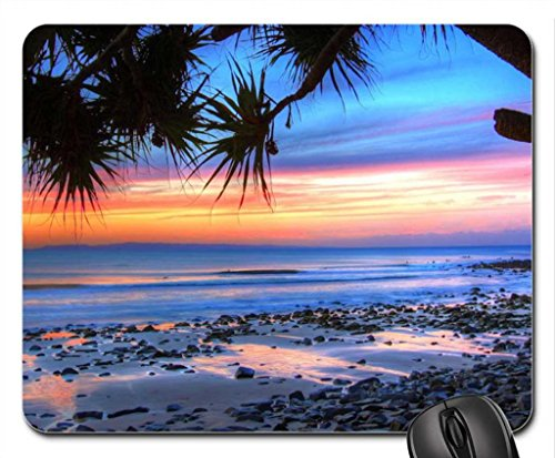sunset-on-beach-in-noosa-np-australia-mouse-pad-mousepad-beaches-mouse-pad