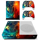 Stillshine Vinyl Skin Decal Full Body Sticker For Microsoft Xbox One S Console & 2 Controllers And Kinect 2.0 (Starry Blue-Orange)
