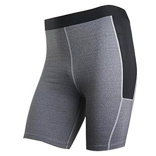 Herren Fitness Hose und Shorts(schwarz, Grau) (Grau, XXL)