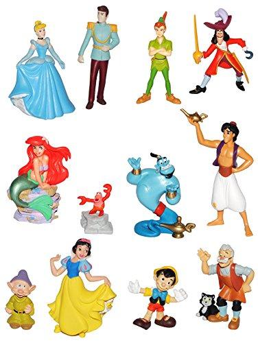 Kinder Disney Figuren (1 Stück: Figur / Sammelfigur - Disney Prinzessin / Filme - aus Schneewittchen / Cinderella / Pinocchio / Arielle / Aladdin u. die Wunderlampe / Peter Pan - Bullyland -)