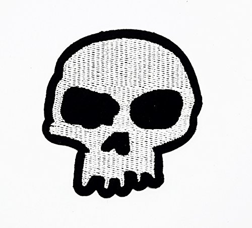 (rabana Halloween Classic Skull Dead Cartoon Kids Patch für Heimwerker-Applikation Eisen auf Patch T Shirt Patch Sew Iron on gesticktes Badge Schild Kostüm)