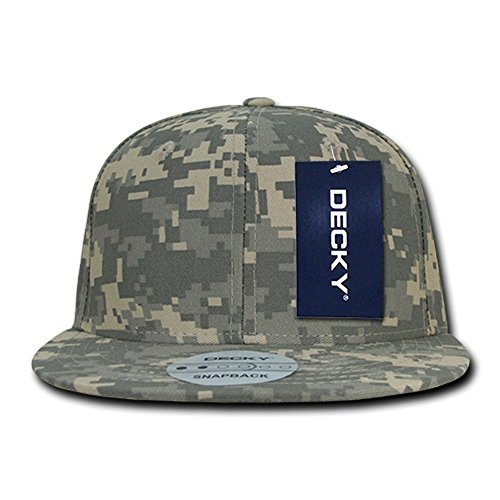 Decky Digital Camo Flat Bill Snapback Baseball Caps - - Einheitsgröße (Camo Cap Flat Bill)