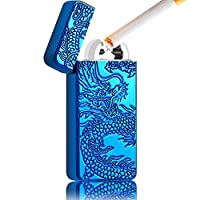 50% off Quality Electric Lighter Double Arc USB Plasma Torch Lighter Rechargeable Windproof Flamless Cigarette Cigar Puls Lighter (No Gas for Men Woman Birthday Gift )