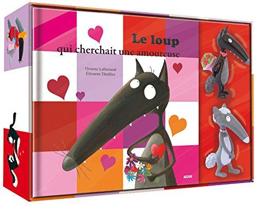 Le Loup qui cherchait une amoureuse - Coffret Livre (petit format) + 2 figurines Loup et Louve amoureux par Orianne Lallemand