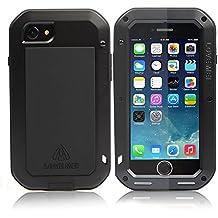 Carcasa para iPhone 6/6S Plus a prueba de golpes polvo/suciedad/nieve, de aluminio, con cristal de protección, compatible con Apple iPhone 6
