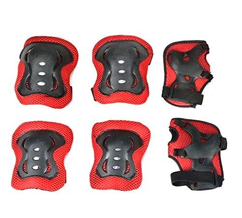 Kinder Knie Handgelenk Ellenbogen Wachen Displayschutzfolie Ski Skating Roller Skating Roller Blading Radfahren Radfahren schutzausrüstungen Set 6pcs Tolles Geschenk für Kinder Jungen und Mädchen -
