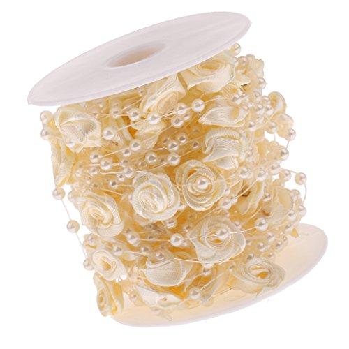 Kleidung & Accessoires Perlen Dekoperlen Perlenkette Tischdeko Hochzeit Floristik Deko Weiss