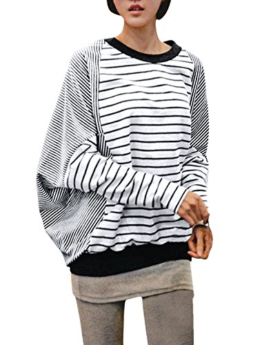 sourcingmapr-allegra-k-damen-fledermaus-armel-leger-lose-pullover-herbst-shirt-bluse