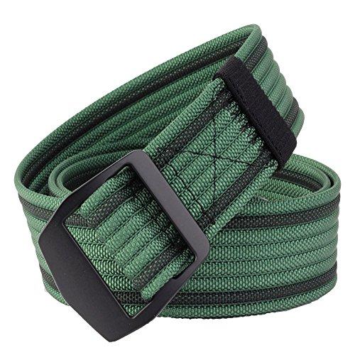 ALAIX Herren Taktischer Gürtel Verstellbarer Textil Nylon Atmungsaktiver Gürtel 3.8cm breit Grün (Condor-anzug)