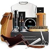 Kit de Soins de Barbe, Fixget 10 pièces Kit Soins Barbe Pour Hommes -Huile Barbe,...