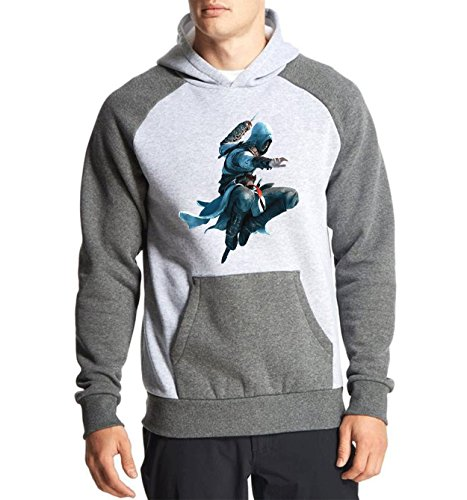 Fanideaz Cotton Full Sleeves Assassin's Creed Jump Kill Hoodies For Men Premium Sweatshirt_Charcoal Melange_XL