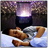 The Perfect Lifestyles Romantic Colorful Star Master Atmosphere Light Star Sky Projector Night Light Cosmos Lamp/Star Master Colorful Romantic LED Cosmos Sky Starry Moon Beauty Night Projector Bed Side Lamp With USB Cable (Black)