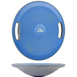 MSPORTS Balance Board Premium 40 cm Durchmesser inkl. Übungsposter und Work Out App GRATIS – Therapiekreisel Physiotherapie Wackelbrett