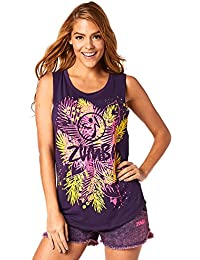 Zumba Women's Queen of the Jungle Long Tank Tops