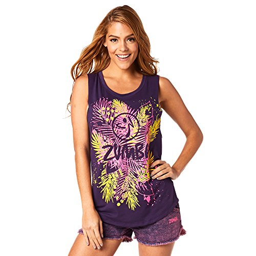 Zumba Fitness Z1T01239 Débardeur Femme, Berry Nice, FR : S (Taille Fabricant : S)