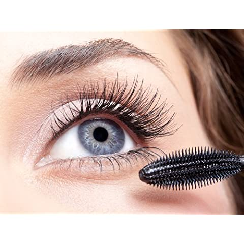 MASCARA lengthenig & curling - BLACK VELVET Organic & Vegan WATERPROOF Vit. A & E - Pure and natural, it's safe for use on the most sensitive eyes by Bare Natur-ALL Minerals