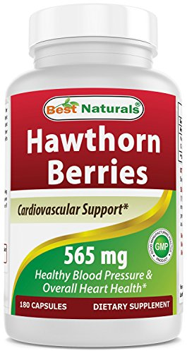 Best Naturals Hawthorn Berry 565 mg 180 Capsules