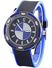 reloj - WOMAGE Caucho Unisexo Reloj de cuarzo de pulsera de Estilo de moda Azul