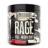Warrior Rage Pre-Workouts Supplement Powder Savage Strawberry 392 g