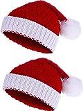 Pangda 2 Pezzi Natale Beanie Inverno a Maglia Cappello Crochet Santa Cappello per Le Donne e Gli Uomini