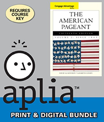 Bundle: Cengage Advantage Books: The American Pageant, Volume 2: Since 1865, 15th + ApliaTM, 1 term Printed Access Card by David Kennedy (2013-01-01)