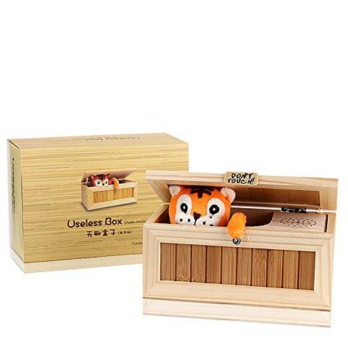 evaky Creative Don 't Touch Tiger Unnützes Box Einzigartige Musical aus Holz Box, Erwachsene Geschenke und praktische Witze Funny Spielzeug für Freunde und Kinder (Spielzeug Boxs)