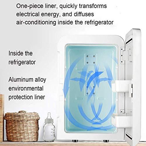 51ecunICLbL - Mini refrigeradores Refrigerador portátil para el hogar Refrigerador de insulina Refrigerador portátil para medicamentos del hogar Viaje en automóvil 10L (Color: Blanco, Tamaño: 23.5 * 26 * 33.5cm)