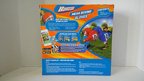 Banzai 48263 Garden toy Riesen Aufblasbare Boxhandschuhe Der Hit für Kinder (Rot)