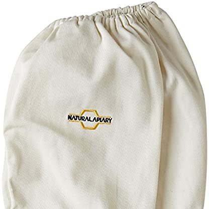Natural Apiary® BEEKEEPING GLOVES - COWHIDE - VENTED SLEEVES & STING PROOF CUFFS - SMALL - Durable Leather - Extra Long Thick Sleeves 7